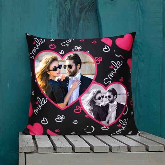 You make me Smile Personalized Cushion