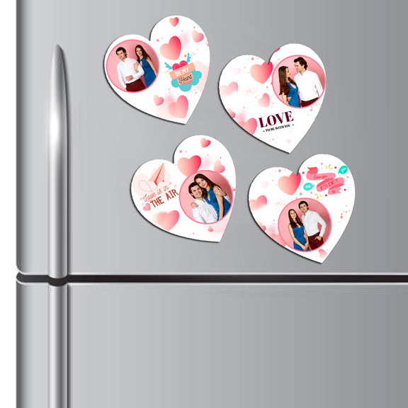 Personalized Loving Couple Fridge Magnet Set