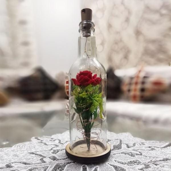 Rose Bottle Lamp for Couple