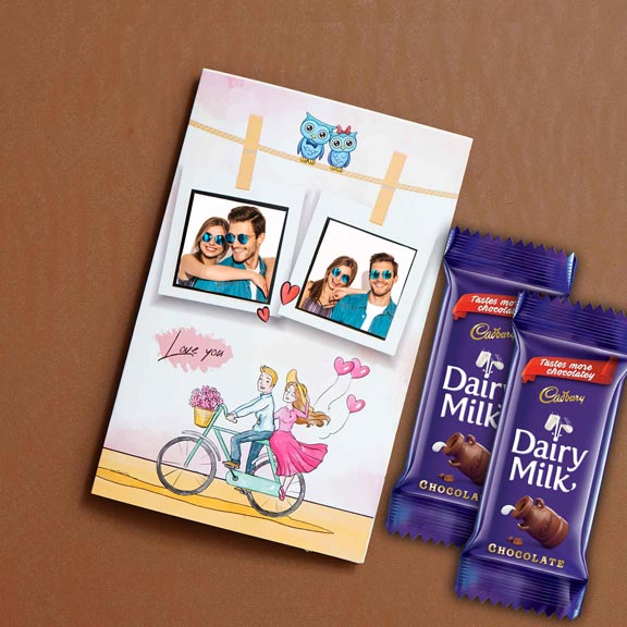 Personalized Better Together Card Chocolate Combo