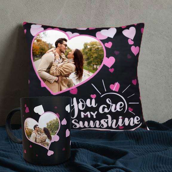 You are my sunshine Personalized Cushion Mug set