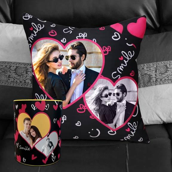 Personalized Smile Cushion Mug Combo