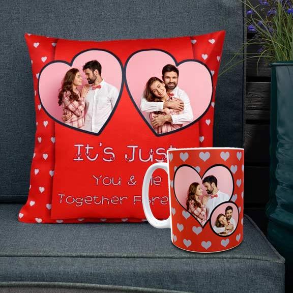 Together Forever Personalized Cushion Mug set