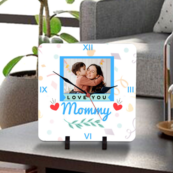 Love you Mommy Personalized Table Clock