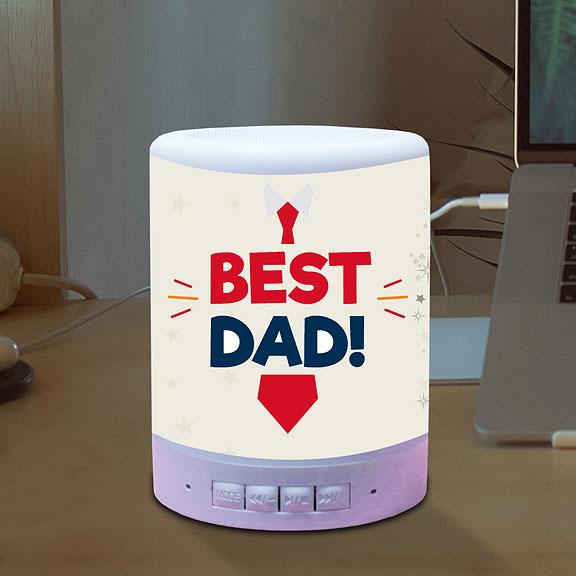 Personalized Best Dad Bluetooth Speaker
