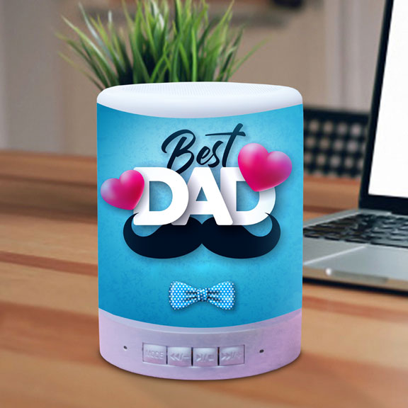 Personalized BT Touch Lamp Speaker for Dad