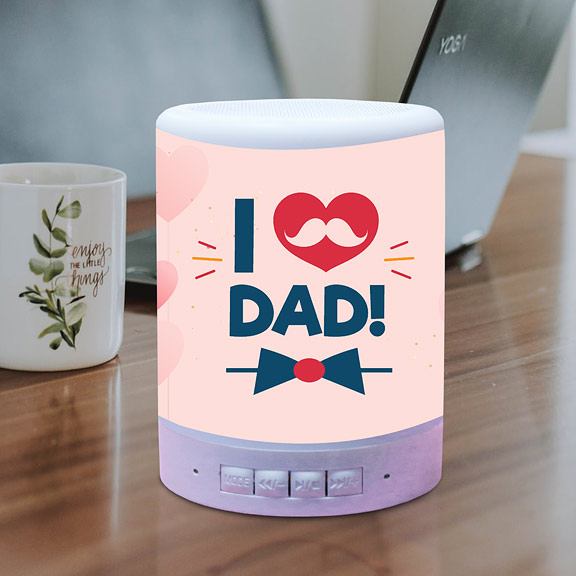 I Love Dad Personalized Touch Lamp BT Speaker