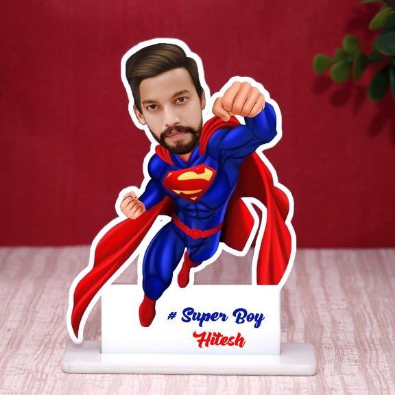 Personalized Super Boy Caricature