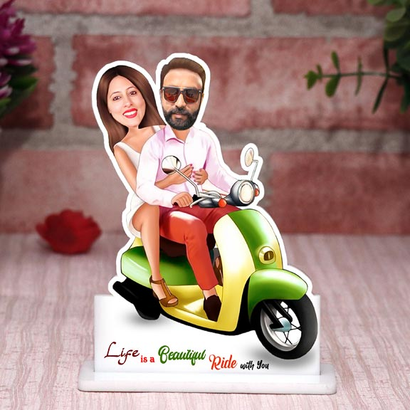 Life is a beautiful ride Couple Caricature