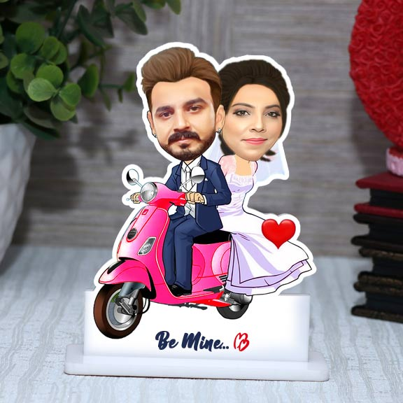 Be Mine Personalized Couple Caricature