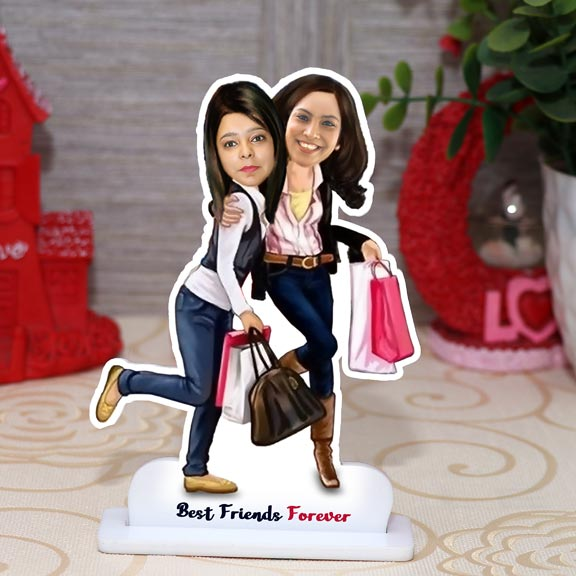 Best Friends Forever Personalized Caricature