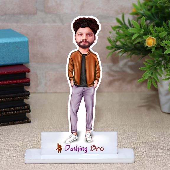 Dashing Bro Personalized Caricature