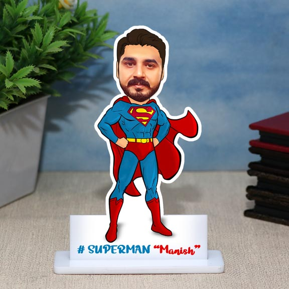 Personalized Caricature for Superman