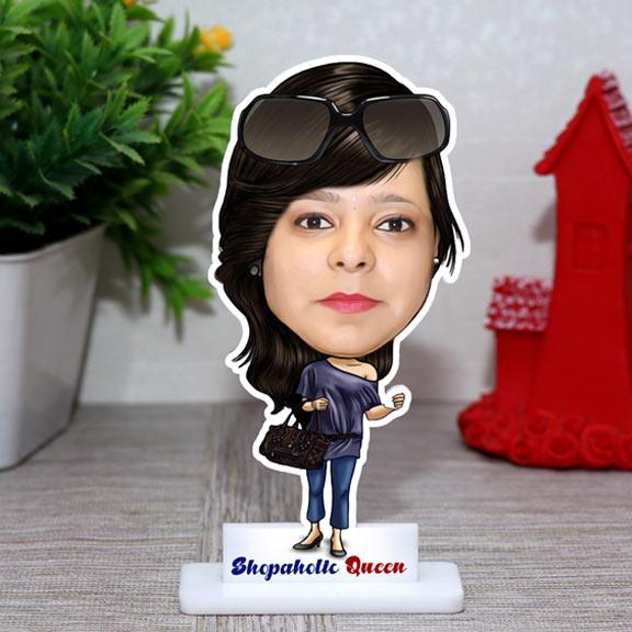 Shopaholic Girl Personalized Caricature