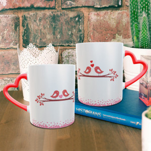 Love Birds Personalized Mug Combo