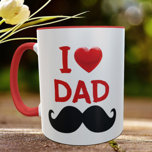 I Love You Dad Personalized Mug