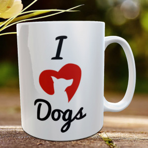 I Love Dog Personalized Mug
