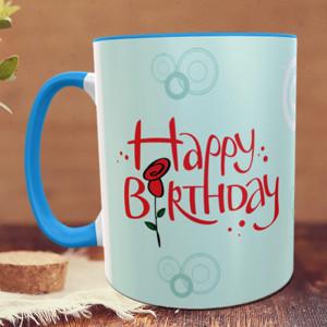 Birthday Wishes with Rose Personalized Mug