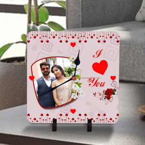 Love You Personalized Clock
