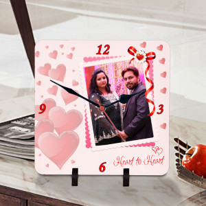Heart to Heart Personalized Clock
