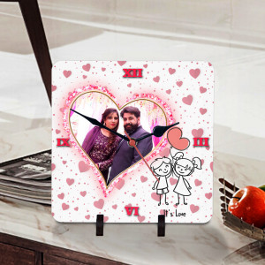 Its Love Personalized Clock