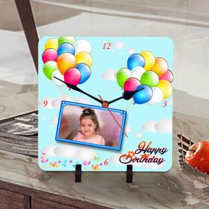 Birthday Balloons Personalized Clock