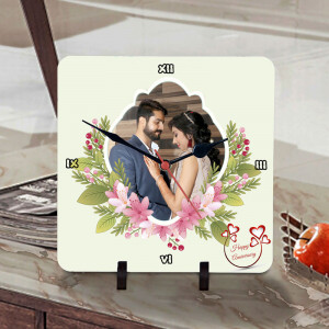 Anniversary Wishes Personalized Clock