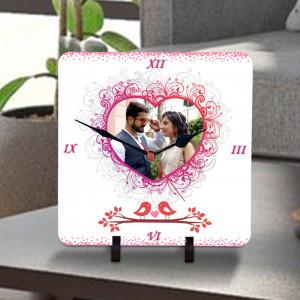 Love Birds Personalized Clock