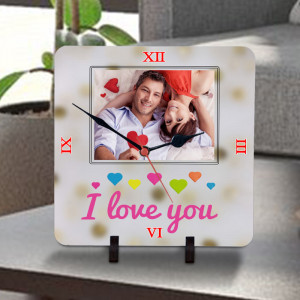 I Love You Personalized Clock