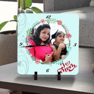 I Love Mom Personalized Clock