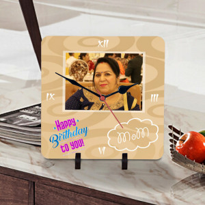 Moms Birthday Wishes Personalized Clock