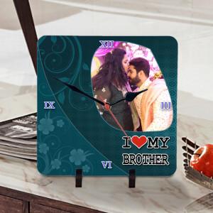 Personalized I Love Brother Designer Clock