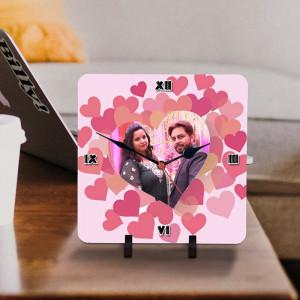 Personalized Loving Hearts Designer Clock