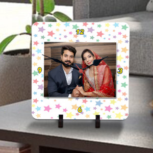 Personalized Star Couple Designer Clock