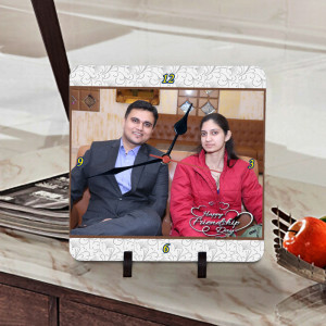 Personalized Friendship Day Wishes Clock