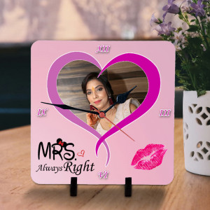 Mrs Always Right Personalized Clock