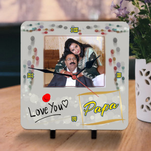 Love You Papa Personalized Clock