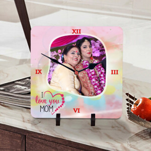 I Love You Mom Personalized Clock