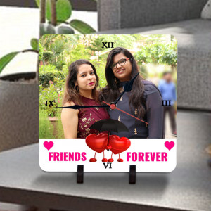 Friends Forever Personalized Clock