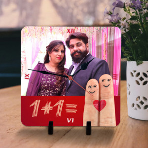 One Plus One Eleven Personalized Couple Clock