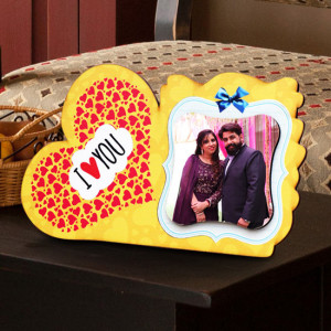 Personalized I Love You Wooden Photo Frame