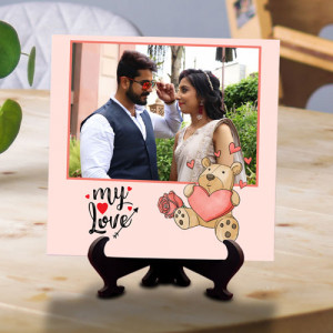 Love with Teddy Personalized Tile