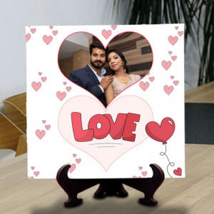Loving Hearts Personalized Tile