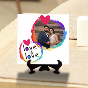 Love is Love Personalized Tile