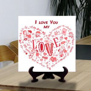Designer Love Tile