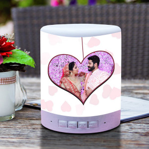 Personalized You N Me Touch Lamp Speaker