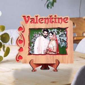 Valentine Wishes Wooden Frame