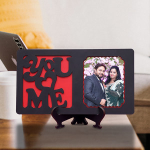 You N Me Personalized Wooden Table Top Frame