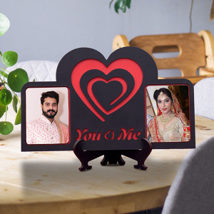 Personalized You Love Me Wooden Frame