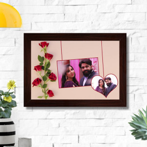 Personalized Red Roses Couple Frame